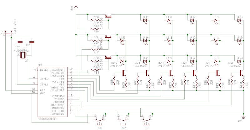 Binary clock circuit design