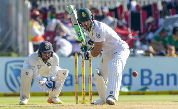 Captain Faf du Plessis of South Africa and wicketkeeper Parthiv Patel of India during day 1 of the 2nd Sunfoil Test match between South Africa and India at SuperSport Park on January 13, 2018 in Pretoria, South Africa.
