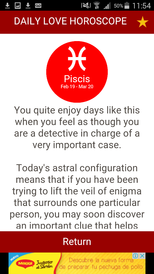 Love Horoscope Daily & Free- screenshot