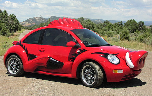 A Beetle Car Want to install a pool in a