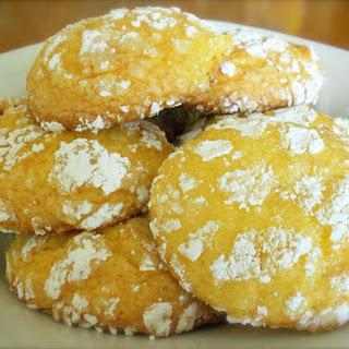 Lemon Cool-Whip Crinkle Cookies.