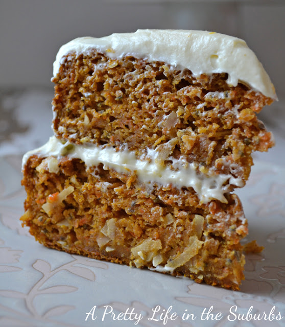 Layered Carrot Cake with Orange Cream Cheese Frosting Recipe | Yummly