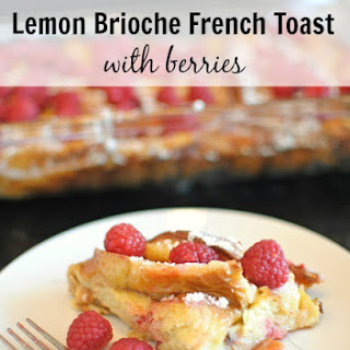 Lemon Brioche French Toast with Berries.