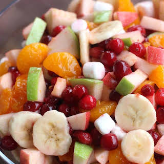 Apple Cranberry Fruit Salad.