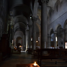 Church, Lucca by Michele Dicerto - Buildings & Architecture Places of Worship ( candle, church, toscana, lucca, italy )