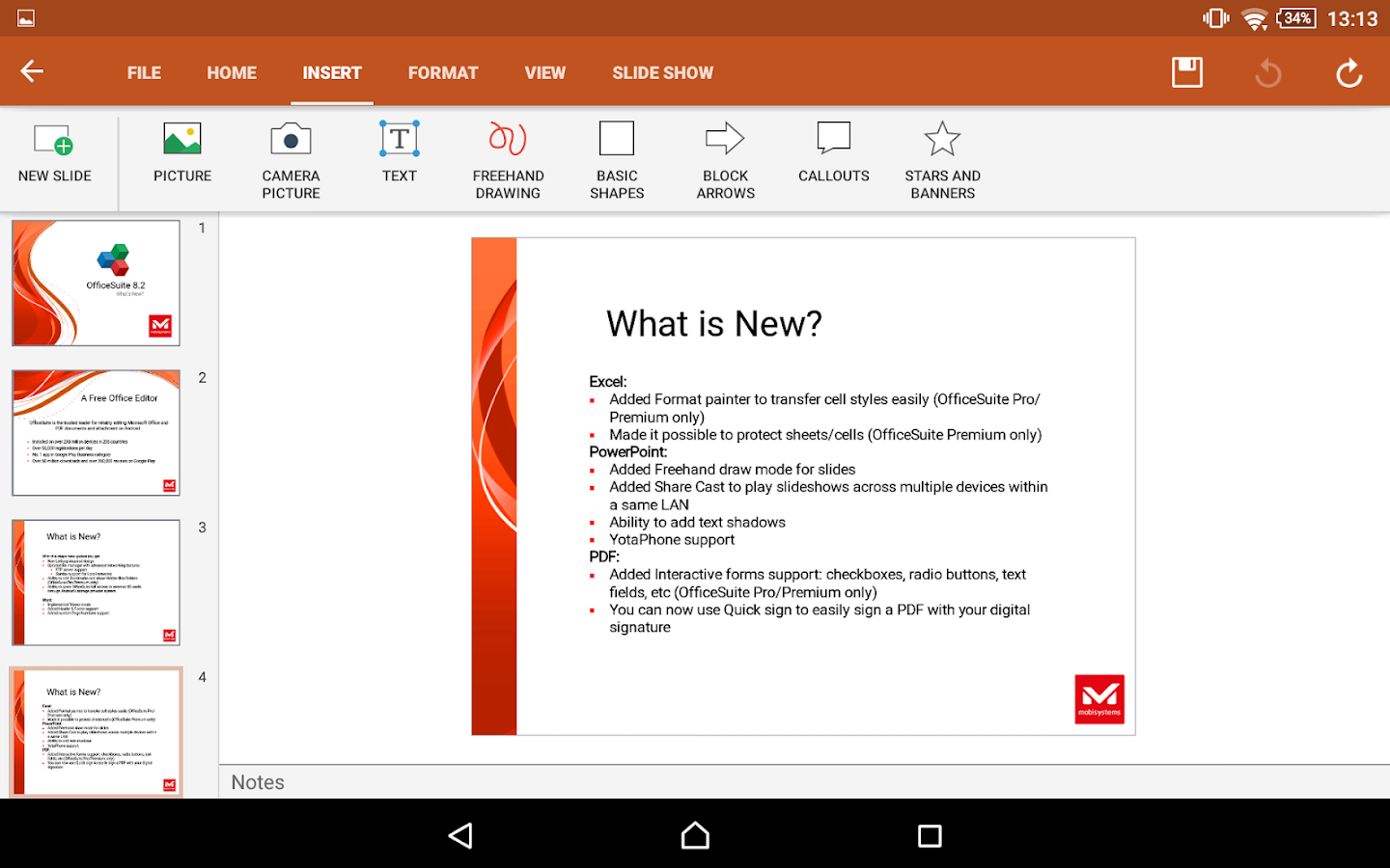 OfficeSuite 8 Pro (Trial) - screenshot