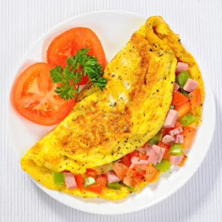 Omelet with Vegetables & Ham.