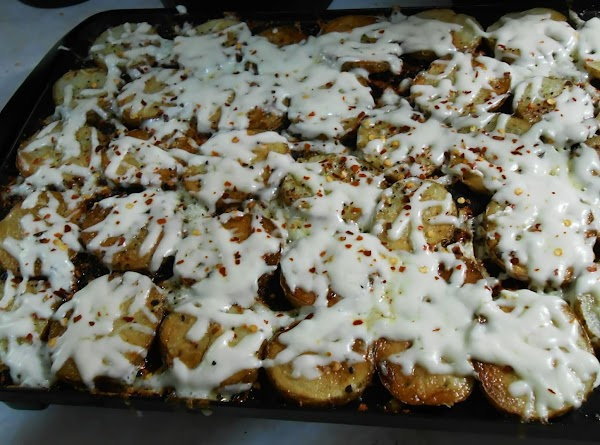 Once potatoes were tender I sprinkled grated Asadero cheese on top, turned heat to...