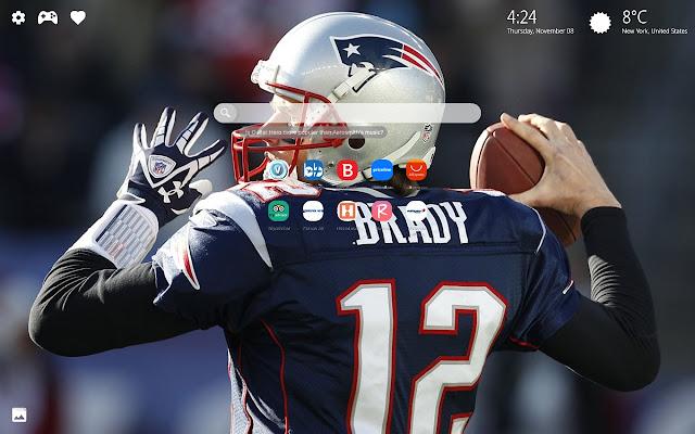 New England Patriots Background HD New Tab