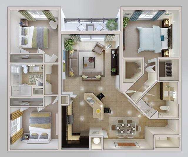 bản vẽ thiết kế nội thất chung cư 90m2