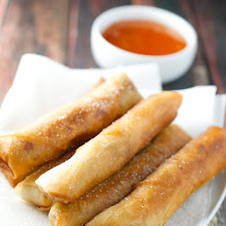 Pork and Vegetable Egg Rolls.