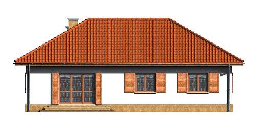 Dom przy Bukowej - Elewacja tylna