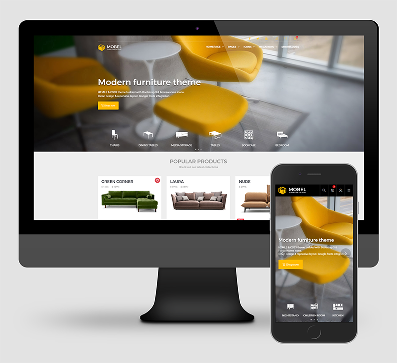 Opencart furniture theme Mobel