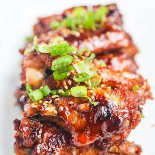 Baked Korean Gochujang Chicken Wings