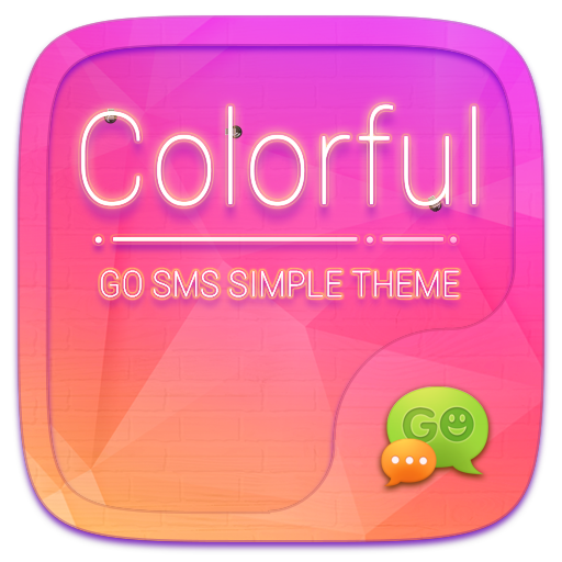 (FREE) GO SMS COLORFUL THEME 通訊 LOGO-玩APPs