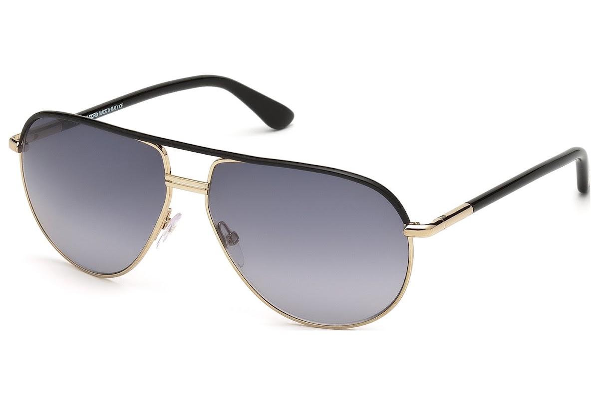 f5f8747133 Sunglasses Tom Ford Cole FT0285 C61 01B (shiny black   gradient smoke)