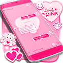 Lovely Pink SMS Theme icon