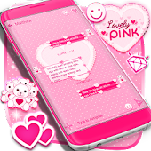Lovely Pink SMS Theme