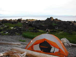 Photo: My campsite on Kanagunut Island at the southern end of Lincoln Channel.