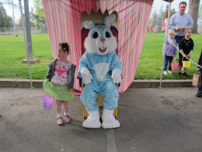 Photo: Fianna with the Easter Bunny