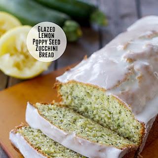 Glazed Lemon Poppy Seed Zucchini Bread