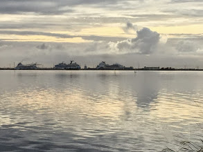 Photo: Cruise ships at Port Canaveral across the river from Kars Park....