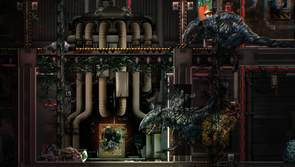 Barotrauma mudraptors and abandoned outpost reactor