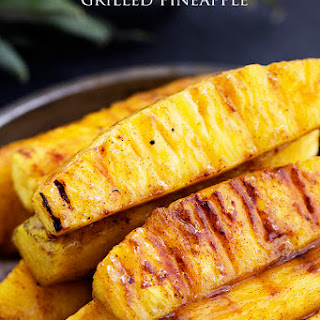 Caramelized Brown Sugar Cinnamon Grilled Pineapple