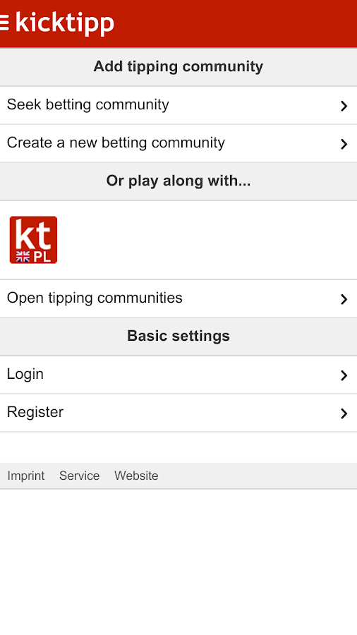 Kicktipp- screenshot