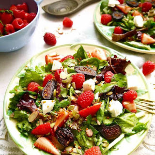Berry and Fig Salad with Vanilla Vinaigrette (GF, Paleo option).