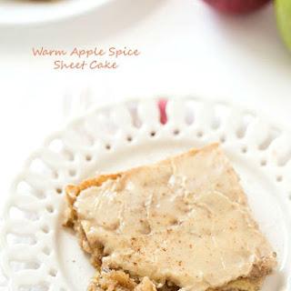 Warm Apple Spice Sheet Cake with Sweet Caramel Glaze