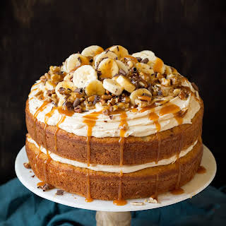 Banana Cake with Salted Caramel Frosting.