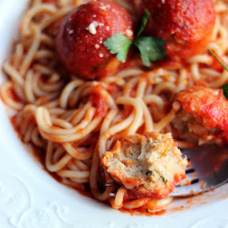 Spaghetti and Meatless Meatballs