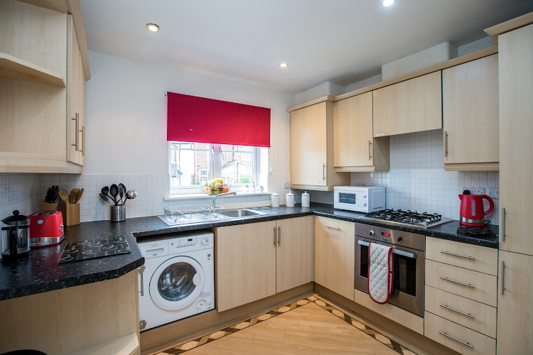 Fully equipped kitchen at Wallwin Place