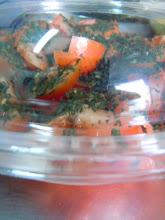 Photo: Salade de tomates & basilic