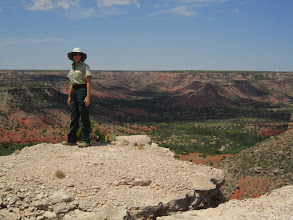Photo: ....But the highlight was standing on this point along the rim of Palo Duro Canyon with the best view on the High Plains!
