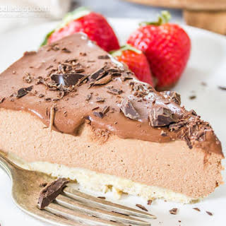 Low-Carb Raw Chocolate Cheesecake.