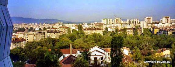 Photo: Sofia, uitzicht vanuit onze hotelkamer | View from our hotel room.  www.loki-travels.eu
