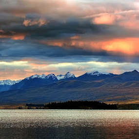 Red Sky by Phattana Sangsawang - Landscapes Cloud Formations
