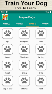 Dog Training, Whistle, Clicker and Sounds Screenshot