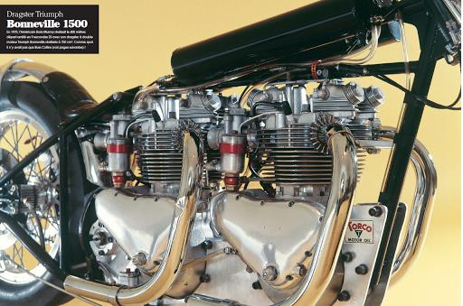 Dragster double moteur Triumph Pré-Unit