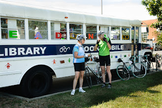 Photo: The bookmobile was not open