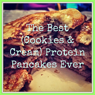 The Best (Cookies & Cream) Protein Pancakes Ever.