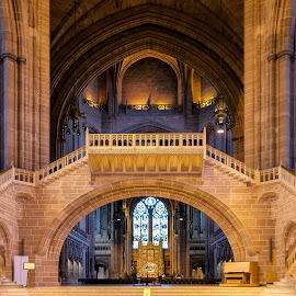Cathedral in Liverpool by Cora Lea - Buildings & Architecture Places of Worship