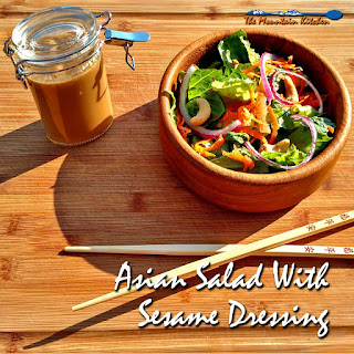 Asian Salad With Sesame Dressing.