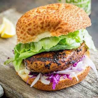 Peri Peri Chicken Burger with Fennel Slaw.