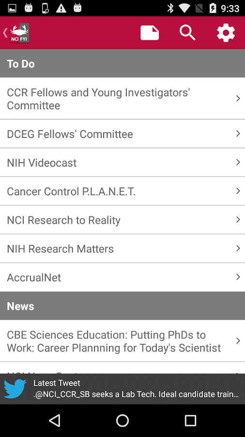 NCI@NIH Fellows & Young Invest- screenshot