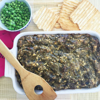 Spring Matzo Kugel with Artichokes and Peas