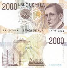 Photo: Guglielmo Marconi, 2000 Italian Lire (1990). This note is now obsolete.