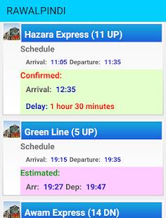 Pakistan Railways Train Status - náhled